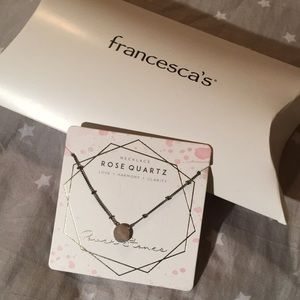 Francesca's rose quartz necklace